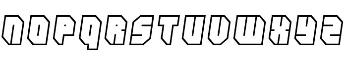 Zipper blues Outline Font UPPERCASE