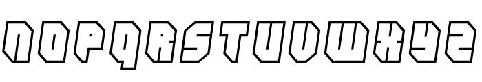 Zipper blues Outline Font LOWERCASE