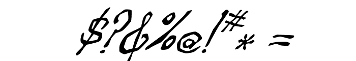 Zippittey Italic Font OTHER CHARS