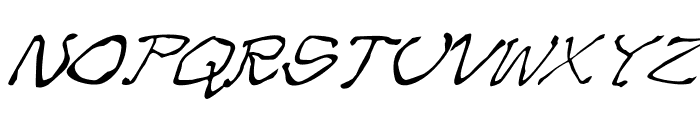 Zippittey Italic Font UPPERCASE