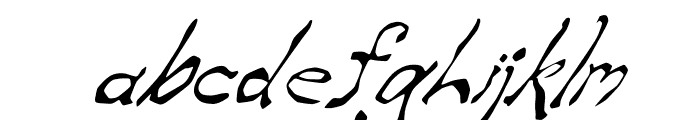Zippittey Italic Font LOWERCASE