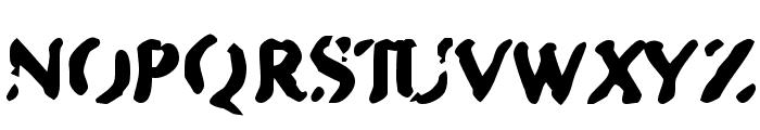 Zipple    Bold Font UPPERCASE