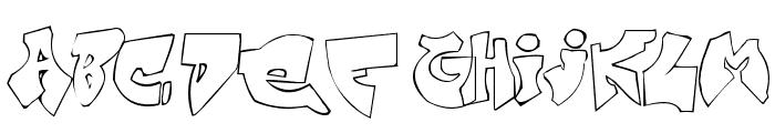 Zit Graffiti Font UPPERCASE