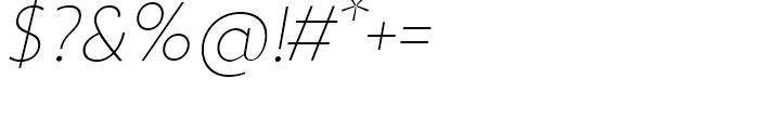 Zigfrid Thin Italic Font OTHER CHARS