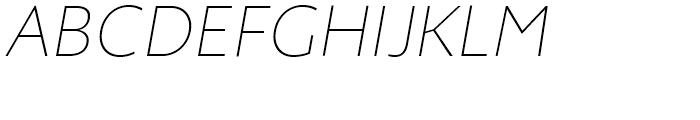 Zigfrid Thin Italic Font UPPERCASE