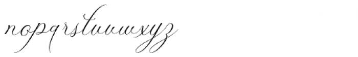 Zially Regular Font LOWERCASE