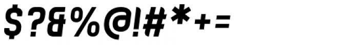Zigfrida Bold Oblique Cyrillic Font OTHER CHARS