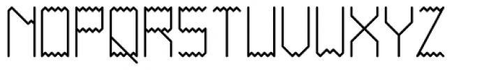 Ziggy Sans Regular Font UPPERCASE