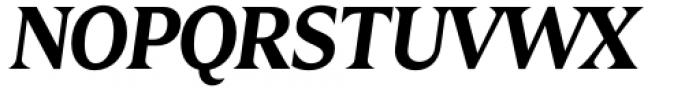 Zin Display Bold Italic Font UPPERCASE