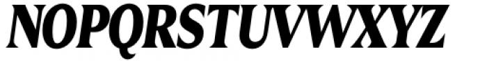 Zin Display Condensed Black Italic Font UPPERCASE