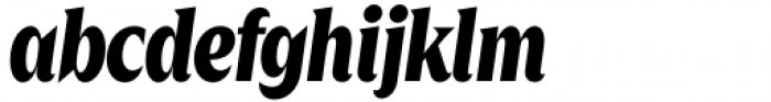Zin Display Condensed Black Italic Font LOWERCASE
