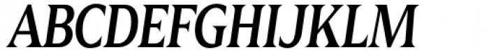 Zin Display Condensed Medium Italic Font UPPERCASE