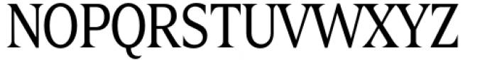 Zin Display Condensed Regular Font UPPERCASE