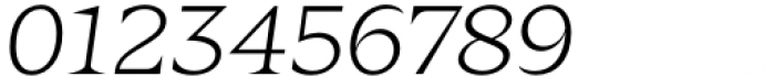 Zin Display Extended Light Italic Font OTHER CHARS