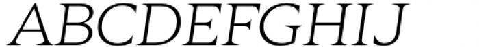 Zin Display Extended Light Italic Font UPPERCASE