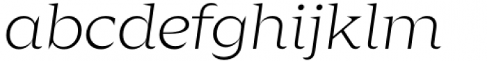 Zin Display Extended Light Italic Font LOWERCASE