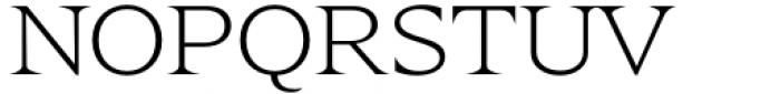 Zin Display Extended Light Font UPPERCASE