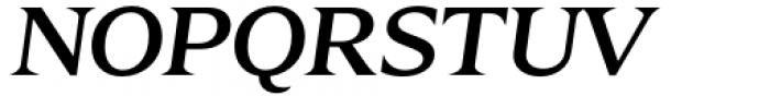 Zin Display Extended Medium Italic Font UPPERCASE