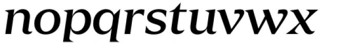 Zin Display Extended Medium Italic Font LOWERCASE