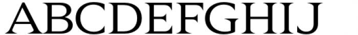 Zin Display Extended Regular Font UPPERCASE