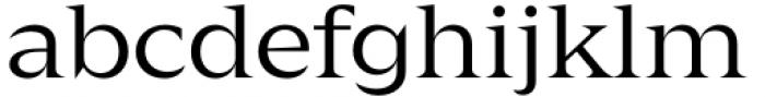 Zin Display Extended Regular Font LOWERCASE