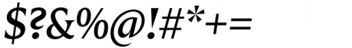Zin Display Medium Italic Font OTHER CHARS