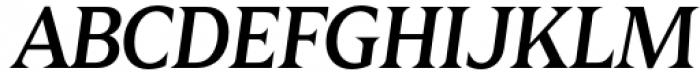 Zin Display Medium Italic Font UPPERCASE
