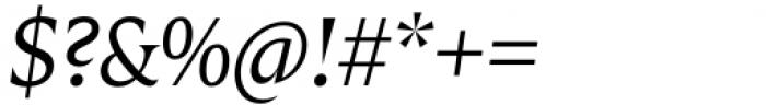 Zin Display Regular Italic Font OTHER CHARS