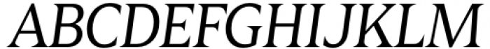 Zin Display Regular Italic Font UPPERCASE