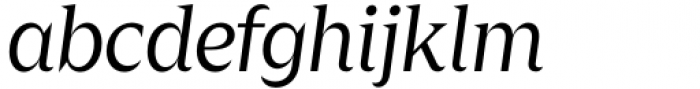Zin Display Regular Italic Font LOWERCASE