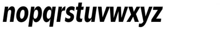 Zin Sans Condensed Bold Italic Font LOWERCASE