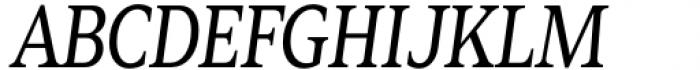 Zin Serif Condensed Regular Italic Font UPPERCASE