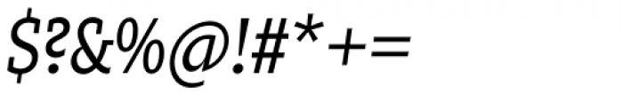 Zin Slab Condensed Regular Italic Font OTHER CHARS