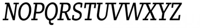 Zin Slab Condensed Regular Italic Font UPPERCASE