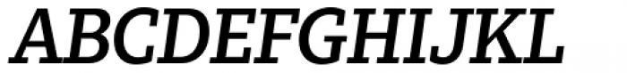 Zin Slab Medium Italic Font UPPERCASE