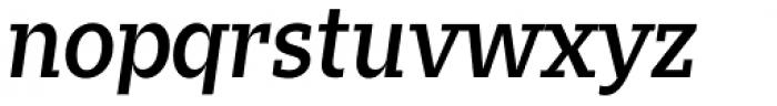 Zin Slab Medium Italic Font LOWERCASE