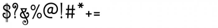 Zinc Italian SG Regular Font OTHER CHARS