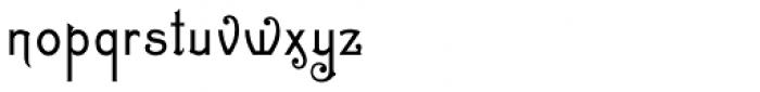 Zinc Italian SG Regular Font LOWERCASE