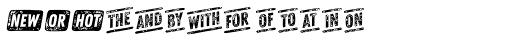 Zing Goodies Words Grunge Font LOWERCASE
