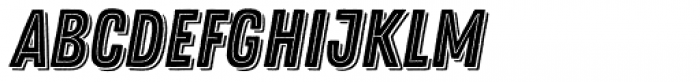 Zing Rust Base2 Line Shadow1 Font LOWERCASE