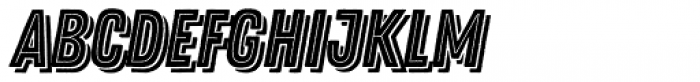 Zing Rust Base2 Line Shadow2 Font LOWERCASE
