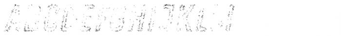 Zing Rust Grunge1 Fill2 Font UPPERCASE