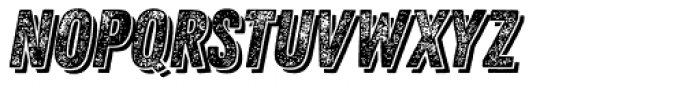 Zing Rust Grunge3 Base Shadow2 Font LOWERCASE