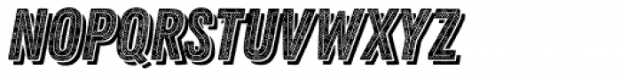 Zing Rust Halftone B1 Base2 Line Shadow2 Font UPPERCASE
