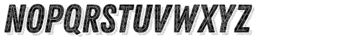 Zing Rust Halftone B1 Base2 Line Shadow5 Font UPPERCASE