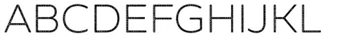 Zing Sans Rust Light Base Halftone A Font UPPERCASE