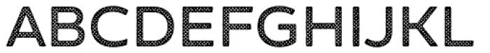 Zing Sans Rust Semibold Base Halftone A Font UPPERCASE
