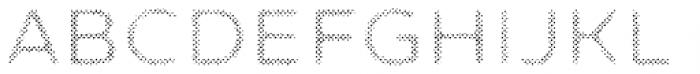 Zing Sans Rust Semibold FIll Halftone A Font UPPERCASE