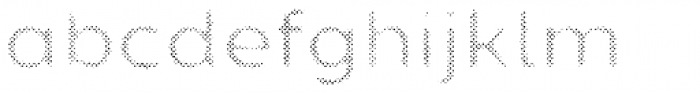 Zing Sans Rust Semibold FIll Halftone A Font LOWERCASE