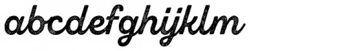 Zing Script Rust Bold Base Line Diagonals Font LOWERCASE